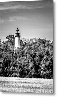 Amelia Island Lighthouse Metal Print by Wade Brooks