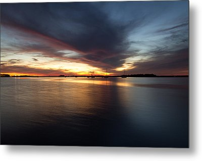 Amelia Island Sunset Metal Print by Wade Brooks