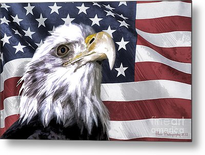 Metal Print featuring the photograph America by Linda Blair
