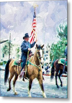 Metal Print featuring the painting America On Parade by Ike Krieger