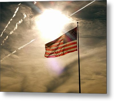 Metal Print featuring the photograph America by Paul Foutz