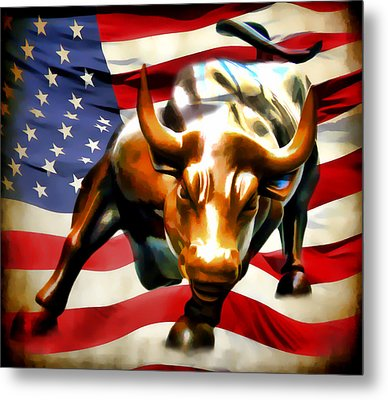America Taking Charge Metal Print by Athena Mckinzie