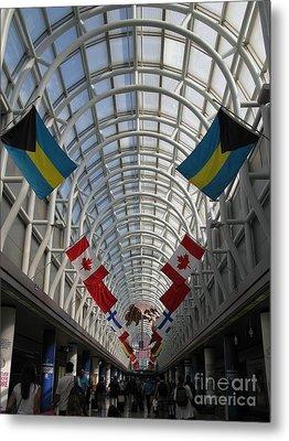 America Welcomes You. Chicago O Hare International Airport. Metal Print by Ausra Huntington nee Paulauskaite