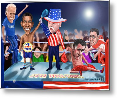 America Wins Metal Print by Fred Makubuya