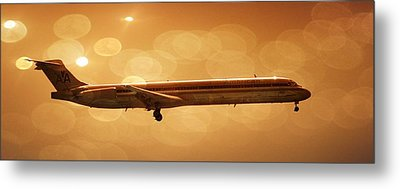 Airplane Metal Print featuring the photograph American Airlines Md80  by Aaron Berg