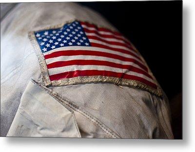 American Astronaut Metal Print by Christi Kraft