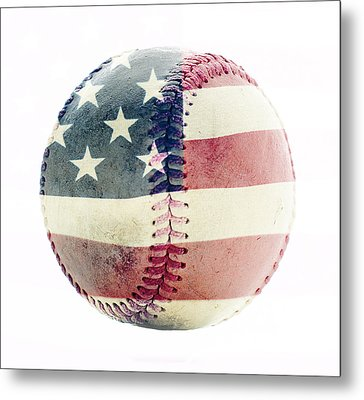 American Baseball Metal Print by Terry DeLuco