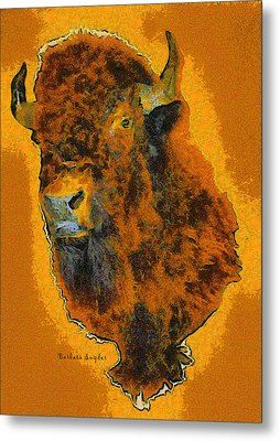 American Buffalo Metal Print by Barbara Snyder
