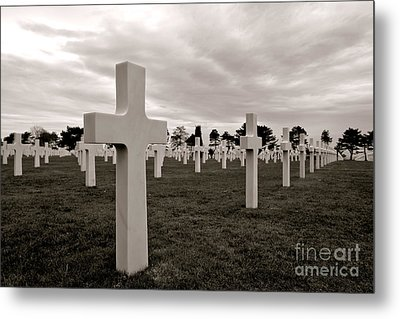 American Cemetery In Normandy  Metal Print by Olivier Le Queinec