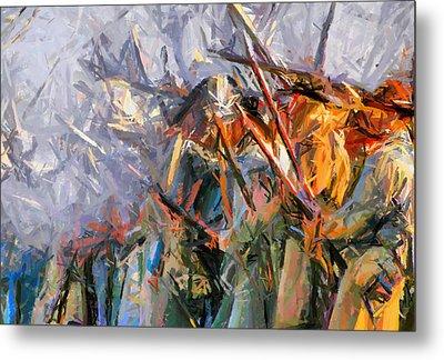American Civil War - Abstract Expressionism Metal Print by Georgiana Romanovna