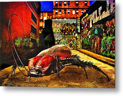 American Cockroach Metal Print by Bob Orsillo