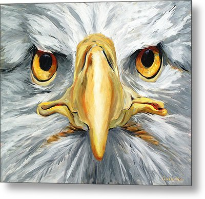 American Eagle - Bald Eagle By Betty Cummings Metal Print by Sharon Cummings
