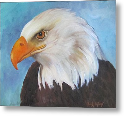 Metal Print featuring the painting American Eagle by Cheri Wollenberg