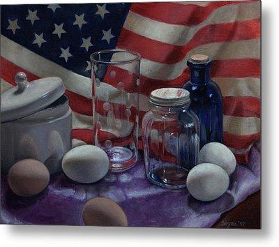 American Eggs Metal Print