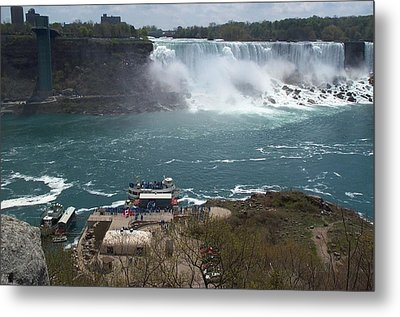 Metal Print featuring the photograph American Falls From Above The Maid by Barbara McDevitt