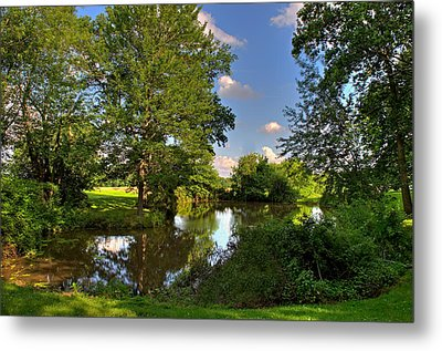 American Farm Pond Metal Print