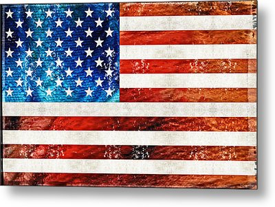 American Flag Art - Old Glory - By Sharon Cummings Metal Print