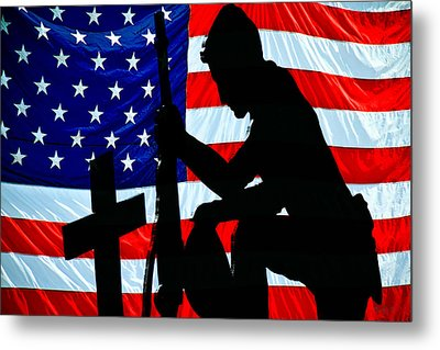 A Time To Remember American Flag At Rest Metal Print by Bob Orsillo