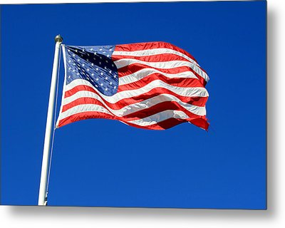 Metal Print featuring the photograph American Flag by Barbara West