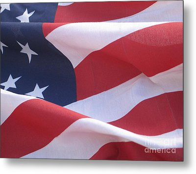 Metal Print featuring the photograph American Flag   by Chrisann Ellis