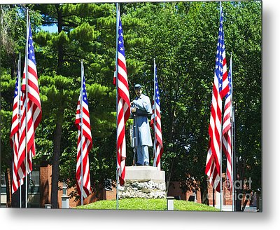 American Flag - Civil War Memorial -  Luther Fine Art Metal Print by Luther Fine Art