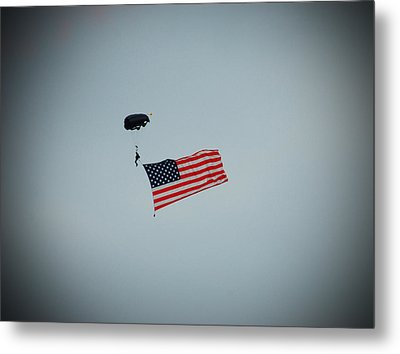 American Flag In The Sky Metal Print by Aimee L Maher Photography and Art Visit ALMGallerydotcom