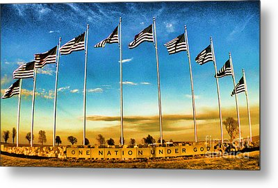 American Flag - Independence Day Metal Print by Luther Fine Art