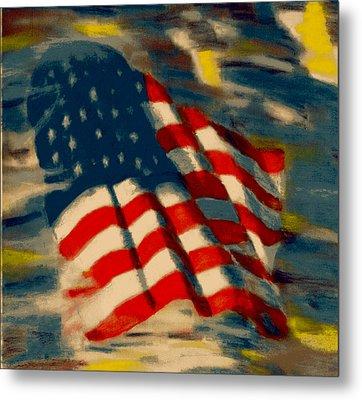 American Flag Metal Print by Patrick McClellan