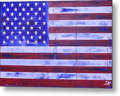 American Flag Metal Print by Sean Keil