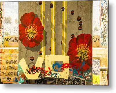 American Flat Artwork Metal Print by Janis Knight