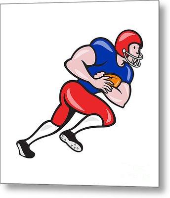 American Football Running Back Rushing Metal Print by Aloysius Patrimonio