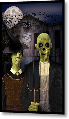American Gothic Halloween Metal Print by Gravityx9  Designs