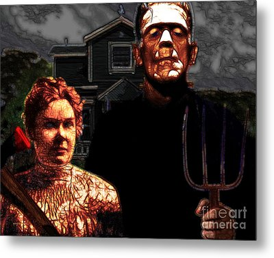 American Gothic Resurrection - Version 2 Metal Print by Wingsdomain Art and Photography