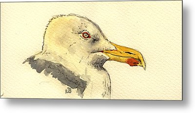 American Herring Gull Metal Print by Juan  Bosco