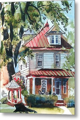 American Home With Children's Gazebo Metal Print