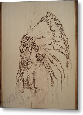 American Horse - Oglala Sioux Chief - 1880 Metal Print by Sean Connolly