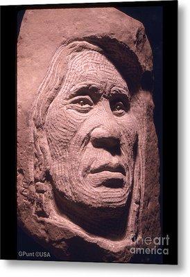 American-indian-portrait-1 Metal Print by Gordon Punt