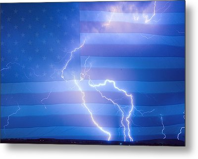 American Mother Nature's Fireworks  Metal Print by James BO  Insogna