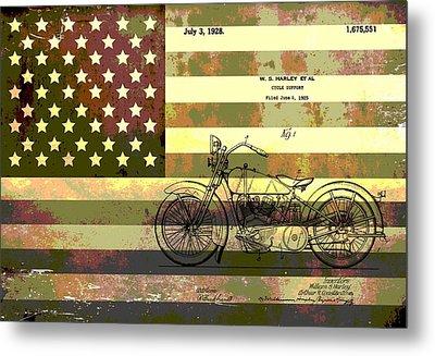 American Motorcycle Patent Metal Print