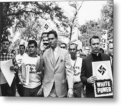 American Nazi Party March Metal Print by Underwood Archives