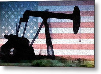 American Oil Rig Metal Print by Dan Sproul