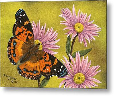 American Painted Lady Metal Print by Rick Bainbridge