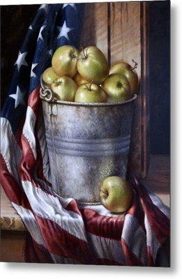 Metal Print featuring the painting American Pie by William Albanese Sr