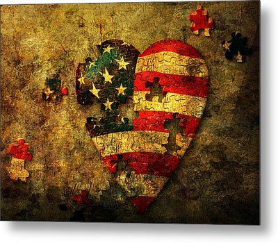 American Puzzle Metal Print by Bruce Rolff