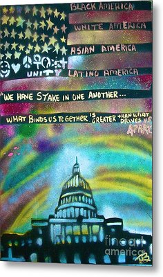 American Rainbow Metal Print by Tony B Conscious