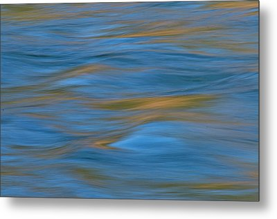 American River Abstract Metal Print by Sherri Meyer