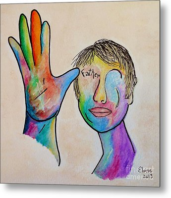 American Sign Language  Father Metal Print