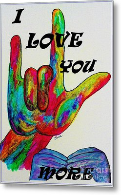 American Sign Language I Love You More Metal Print