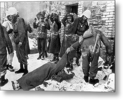 American Soldiers At Wwii Front Metal Print by Underwood Archives