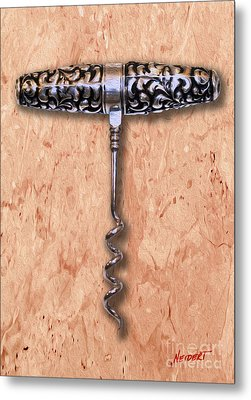 American Sterling Roundlet  Corkscrew 1890 Painting Metal Print